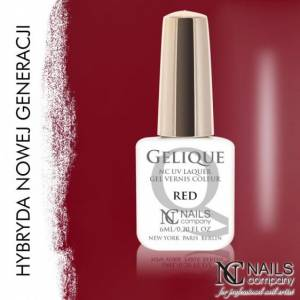 Nails Company GELIQUE RED 6ML - Żel hybrydowy