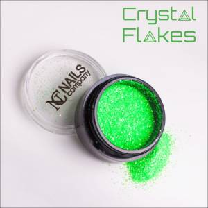 Crystal Flakes Neon Green