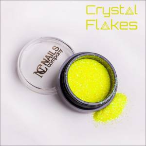 Crystal Flakes Neon Yellow