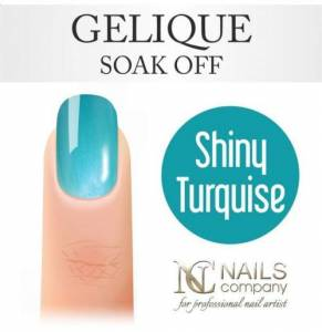 Nails Company GELIQUE SHINY TURQUOISE 6ML - lakier hybrydowy