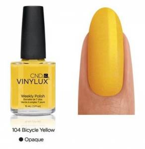 Lakier VINYLUX CND - Bicycle Yellow 104