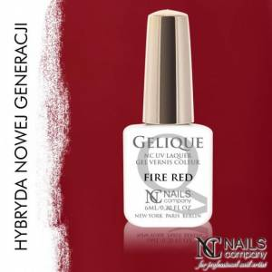 Nails Company GELIQUE FIRE RED 6ML - Żel hybrydowy