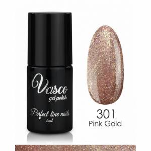 Lakier hybrydowy VASCO Shine & Shade 6 ml - 301 Pink Gold