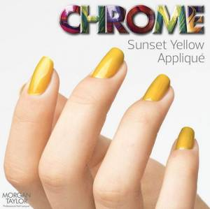 Lakier do paznokci Morgan Taylor Chrome Collection - SUNSET YELLOW 50209