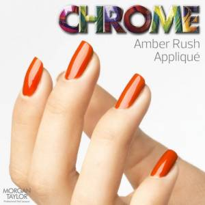 Lakier do paznokci Morgan Taylor Chrome Collection - AMBER RUSH APPLIQUE 50210
