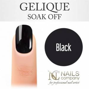 Nails Company GELIQUE BLACK 6ML - Żel hybrydowy