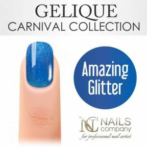 Nails Company GELIQUE AMAZING GLITTER 6ml - Żel hybrydowy