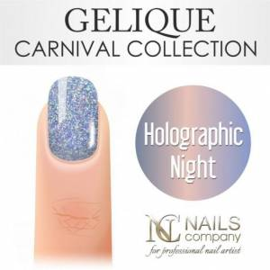 Nails Company GELIQUE HOLOGRAPHIC NIGHT 6ML - Żel hybrydowy